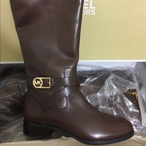 Michael Kors Bryce Tall Boot in Mocha Leather